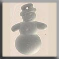 12060 - Frosted Snowman Matte Crystal (foiled) 22mm - 1 per pkg